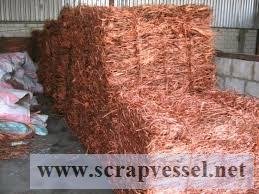 99.9% copper wire scraps for sale